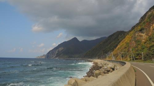 尾花岬、北海道、最西端、ついに...