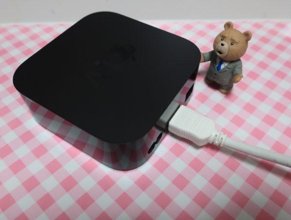 Apple TVは、補正ができない,テレビ側で調整しかない