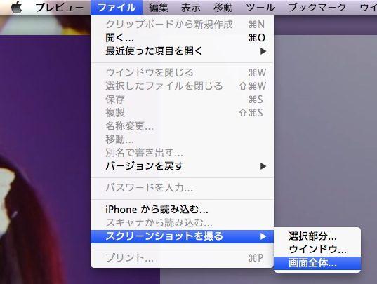 時差でスクショが撮れる,mac標準のプレビュー