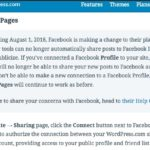 facebookはwordpressに連携できない,2018年から