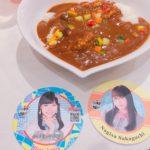 AKB48カフェ#4、STU48コースターのカレー、ひな、なぎ、れなっち、なるちゃん