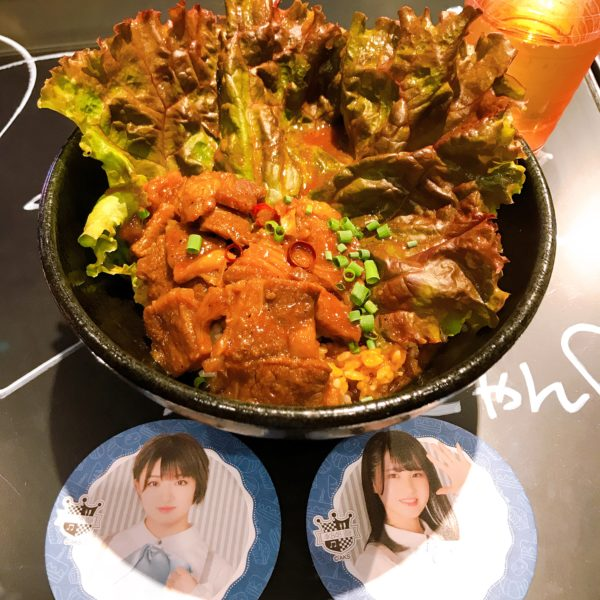 AKB48カフェ~「お肉もりもり食べーる丼」坂口渚沙,AKB48~聖地巡り~