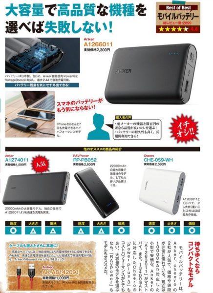 モバイルバッテリーは10000アンペアで2000円台に突入