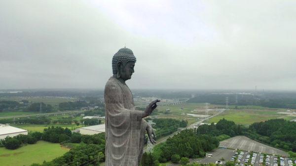 世界最大のブロンズの仏像,牛久大仏【絶景】ドローン,茨城県、梅雨旅2019【道の駅めぐり】