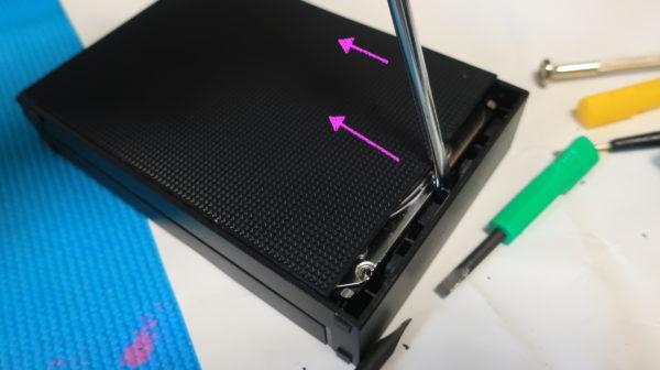 【HDD分解】I-O DATA EX-HDCZシリーズHD3CZ 分解 スライド式なんだけど、やたら固いっっっ