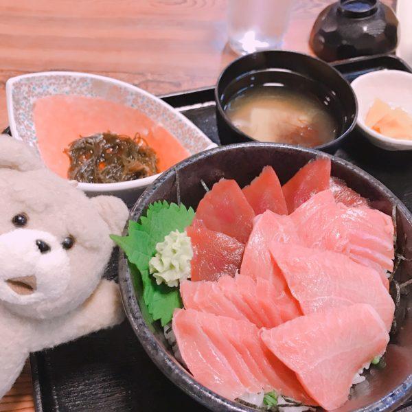 【特注マグロ丼】大間岬、本州の最北端で食べた特注マグロ丼うまっ❤️